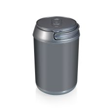 Mini Can Cooler- Silver Plastic W/ Silver Top 6 Can Capacity