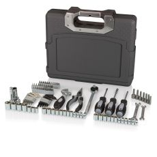 Omni 105 piece Tool Kit -Dark Grey with silver accent handle