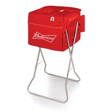Budweiser - Party Cube Portable Standing Cooler by Picnic Time (Red)