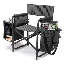Fusion Chair-Grey with Black Frame and accents