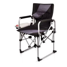 Meta Chair-Black/Grey Compact Sports Chair With Side Table