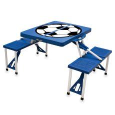 Royal Blue Picnic Table W/ Soccer Imprint