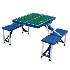 Royal Blue Picnic Table W/ Football Field Imprint