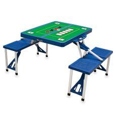 Royal Blue Picnic Table W/ Poker Imprint