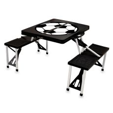 Black Picnic Table W/ Soccer Imprint