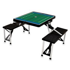 Black Picnic Table W/ Football Field Imprint