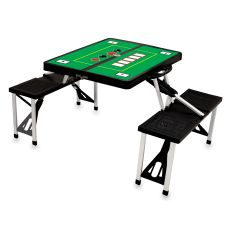 Black Picnic Table W/ Poker Imprint