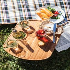 Mesamio-Portable Wine And Snack Table For Two