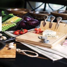Asiago Folding Cheese Board W/Tools