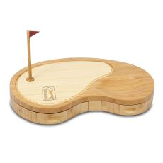 Pga Tour - Sand Trap Cheese Board And Tools Set By Picnic Time