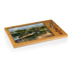 PGA Tour - Icon Cutting Board/Tray and Knife Set by Picnic Time (TPC Stadium Course Hole 17 Design)
