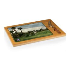 PGA Tour - Icon Cutting Board/Tray and Knife Set by Picnic Time (Palmer Private Course Hole 7)