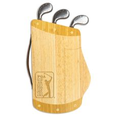 Pga Tour - Caddy Cheese Board And Tools Set By Picnic Time