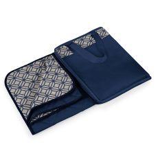 Vista Blanket XL - Navy Blue with Moroccan Print