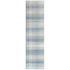 """Liora Manne Preston Plaid Indoor/Outdoor Rug Blue 24""""X8'"""