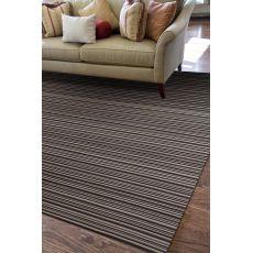 Flatweave Stripes Pattern Black/White Wool Area Rug (9X12)