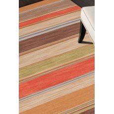 Flatweave Stripes Pattern Red/Brown Wool Area Rug (9X12)