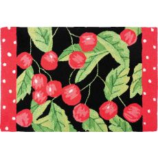 "Sweet Cherries Polyester Rug, 22""X34"""