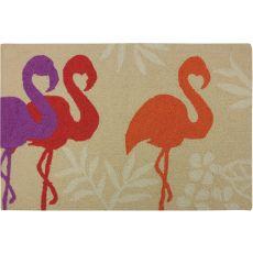"""Flamingos   Polypropylene Rug, 22""""X34"""""""