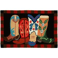"Boot Scootin' Polyester Rug, 22""X34"""