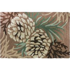 "Pine Cone Polyester Rug, 22""X34"""