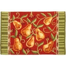 "Provence Pears Polyester Rug, 22""X34"""