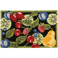 "Fresh Fruit Polyester Rug, 22""X34"""