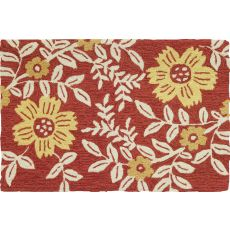 Coral Floral Indoor Outdoor Rug, 22 x 34 in.