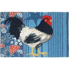 "American Rooster Polyester Rug, 22""X34"""