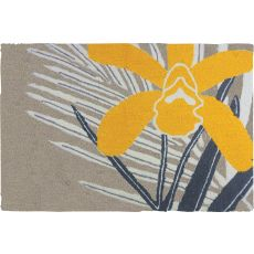 "Yellow Orchid Polypropylene Rug, 22""X34"""