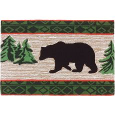 "Bear In Pine Forest Polyester Rug, 22""X34"""