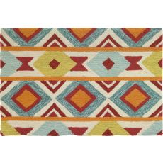 "New Southwest Polyester Rug, 22""X34"""