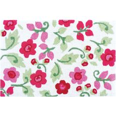 Pink Posies Indoor Outdoor Rug, 22 x 34 in.