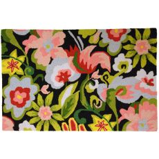 "Watercolor Flowers Polypropylene Rug, 22""X34"""