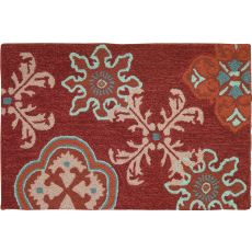 "Crimson Stamps Polyester Rug, 22""X34"""