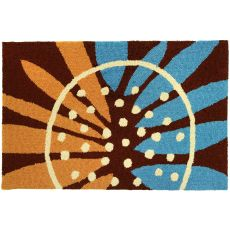Painted Sunflower Polyester Rug, 22 x 34 in.