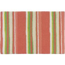 "Coral Stripe Polyester Rug, 22""X34"""