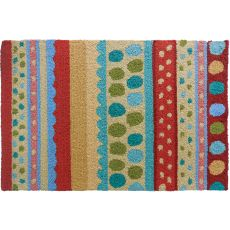 Stripes & Polka Dots Polyester Rug, 22 x 34 in.