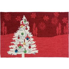 "Shimmering Christmas Tree Polyester Rug, 22""X34"""