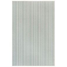 "Liora Manne Plymouth Texture Stripe Indoor/Outdoor Rug Aqua 4'10""X7'6"""