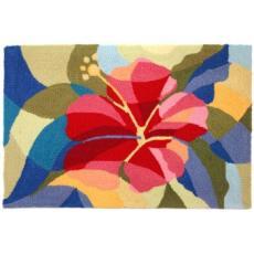 Bright Hibiscus Rug