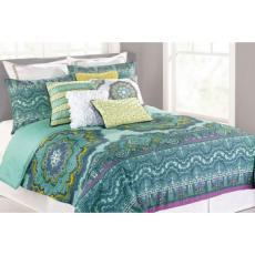 Nanette Lepore Paisley Medallion Full/Queen Size Comforter Set