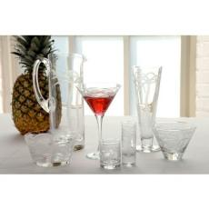 Palm Tree Glasses set of 4