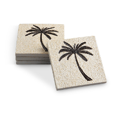 Palm Tree Coasters S/4