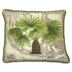 East Indies Palm Tree Needlepoint Pillow