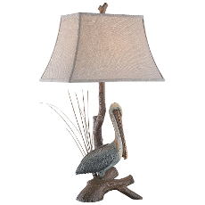 Pelican Nature Table Lamp With Ting (Set of 2)