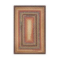 Homespice Decor 4' x 6' Rect. Peppercorn Cotton Braided Rug