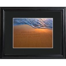 Personalized Sparkling Sands Framed Print