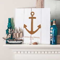 Personalized Rustic Anchor Wooden Wall Art