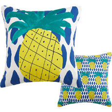 Pineapple Reversible Canvas Pillow